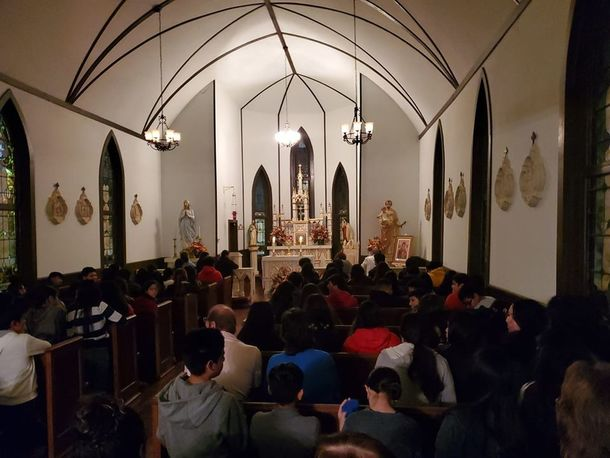 Over 100 teens participated in our first Eucharistic Adoration for teens.